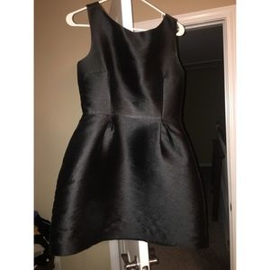 Kate Spade open back silk bow black dress